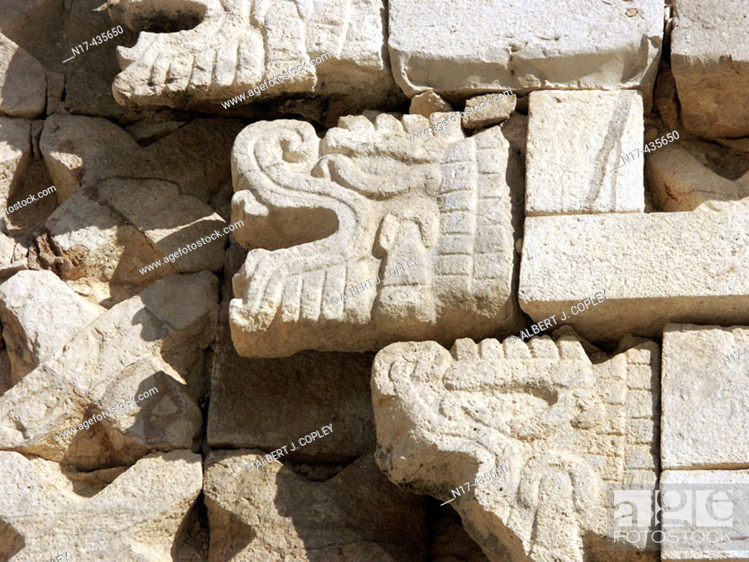 Stock Photo: Maya glyph from Uxmal archeological site (late classic period, Maya glyphs,  600 - 900 A.D.). Yucatán, Mexico.