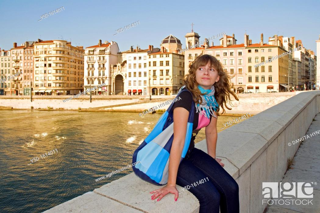 Stock Photo: Lyon, historical site listed as World Heritage by UNESCO, old town, Rhône-Alpes, France.