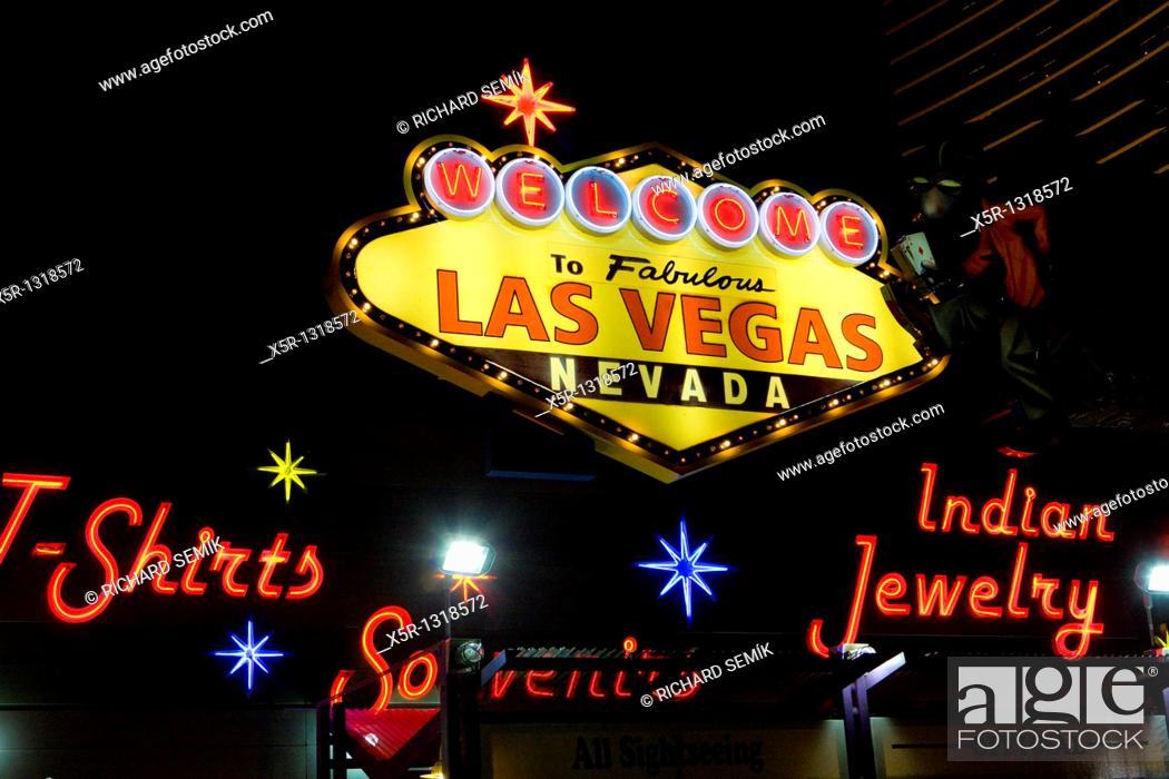 Stock Photo: sign of Las Vegas, Nevada, USA.