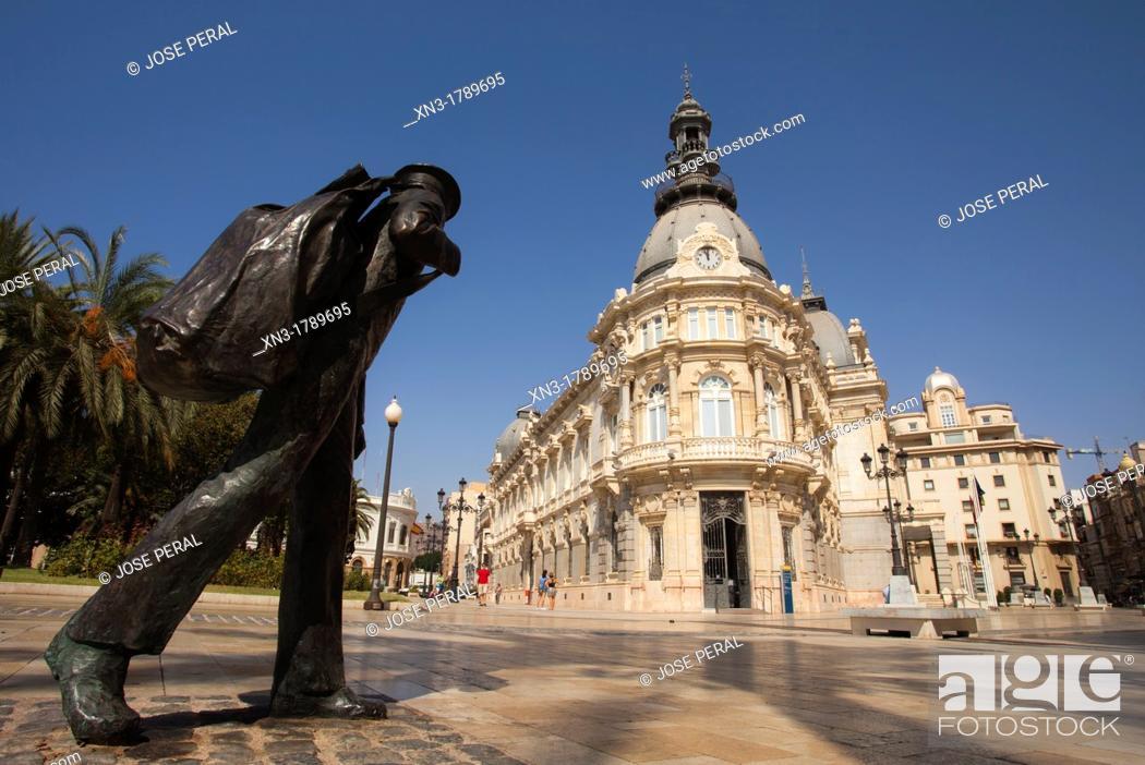 Stock Photo: Town hall, Cartagena, Costa Calida, Murcia, Spain.