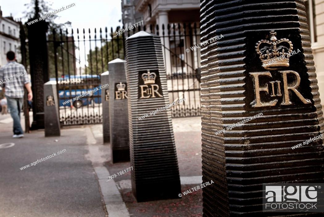 Stock Photo: Europe, england, london, buckingham palace.