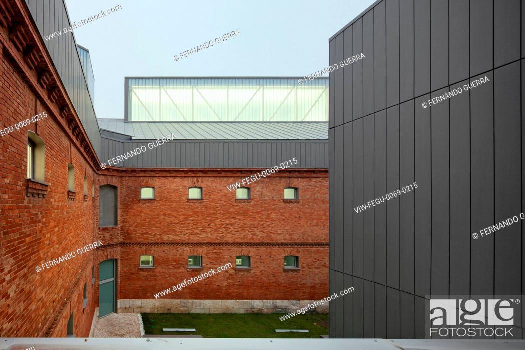 Civic centre in palencia palencia spain architect exit stock