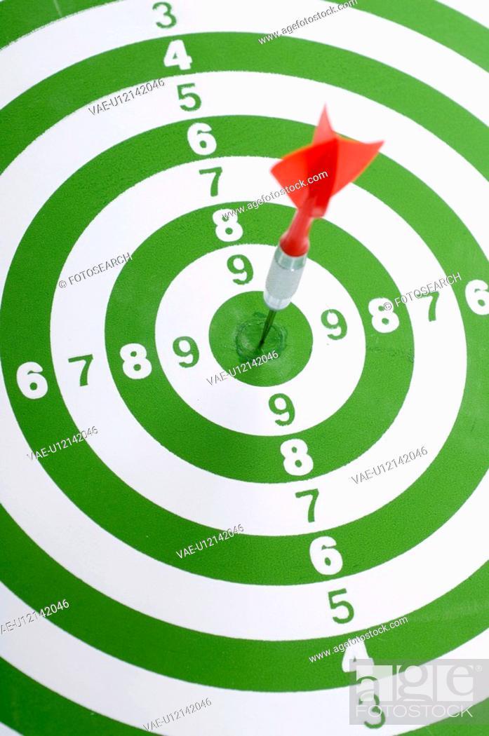 Stock Photo: board, aim, background, arrow, archery, bullseye, accurate.