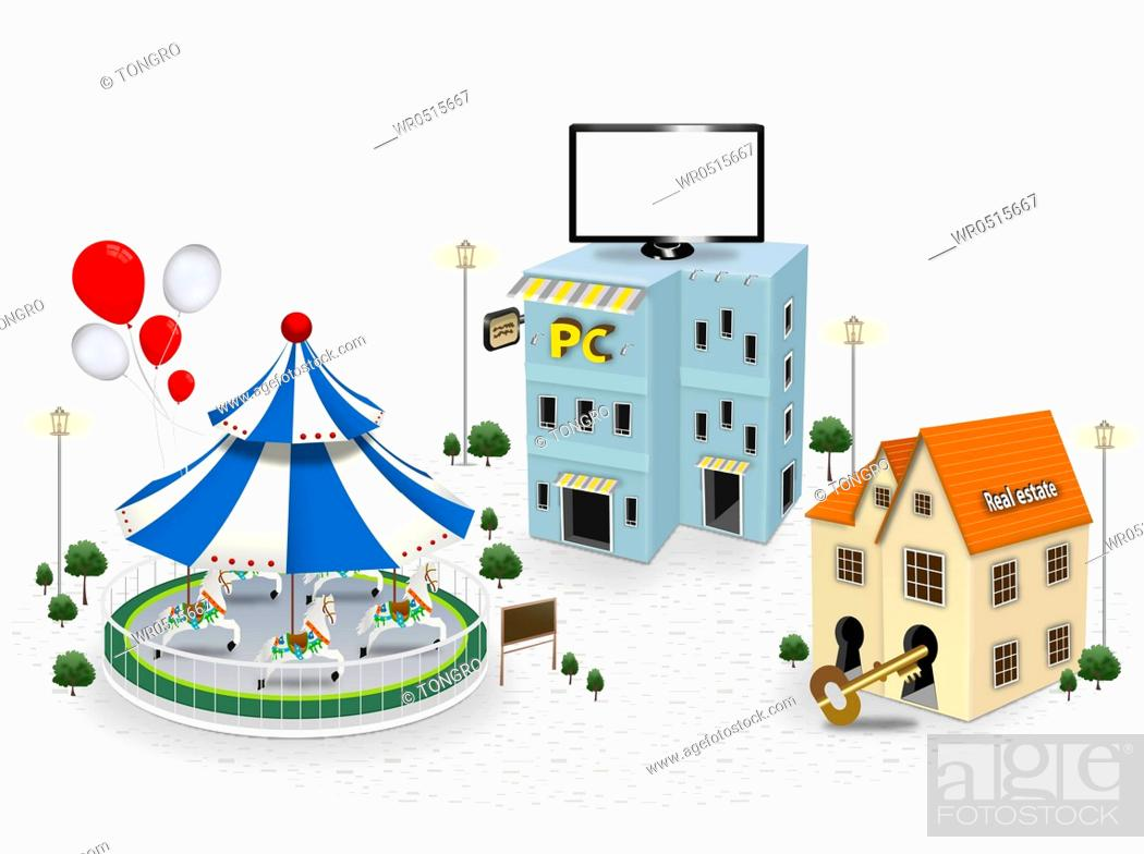 various types of building structures, Stock Photo, Picture