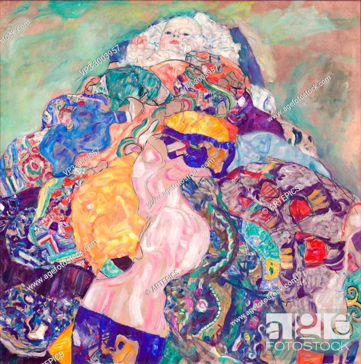 Imagen: Gustav Klimt - Baby (Cradle).