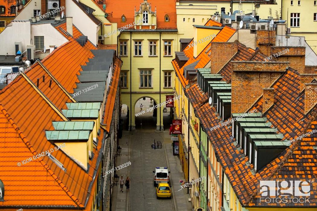 Stock Photo: City centre in Wroclaw, Poland.