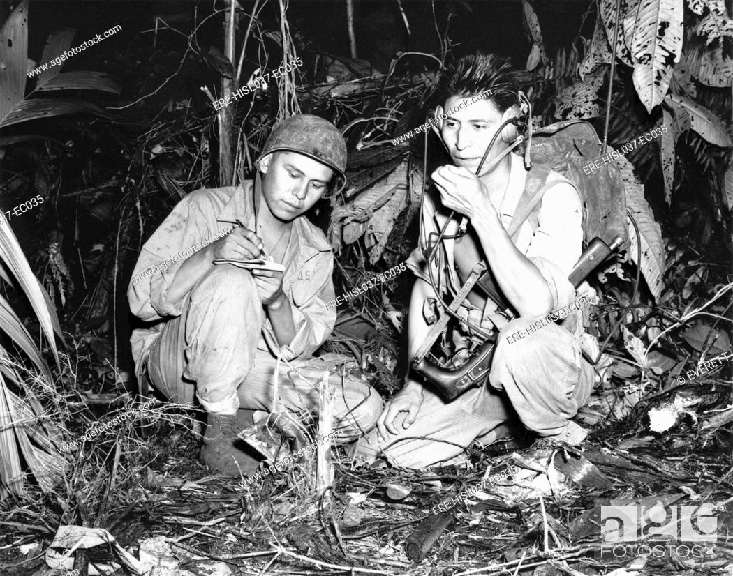 Navajo Indians With A Us Marine Signal Unit Operate Portable Rhagefotostock: Us Marines Radio Codes At Gmaili.net
