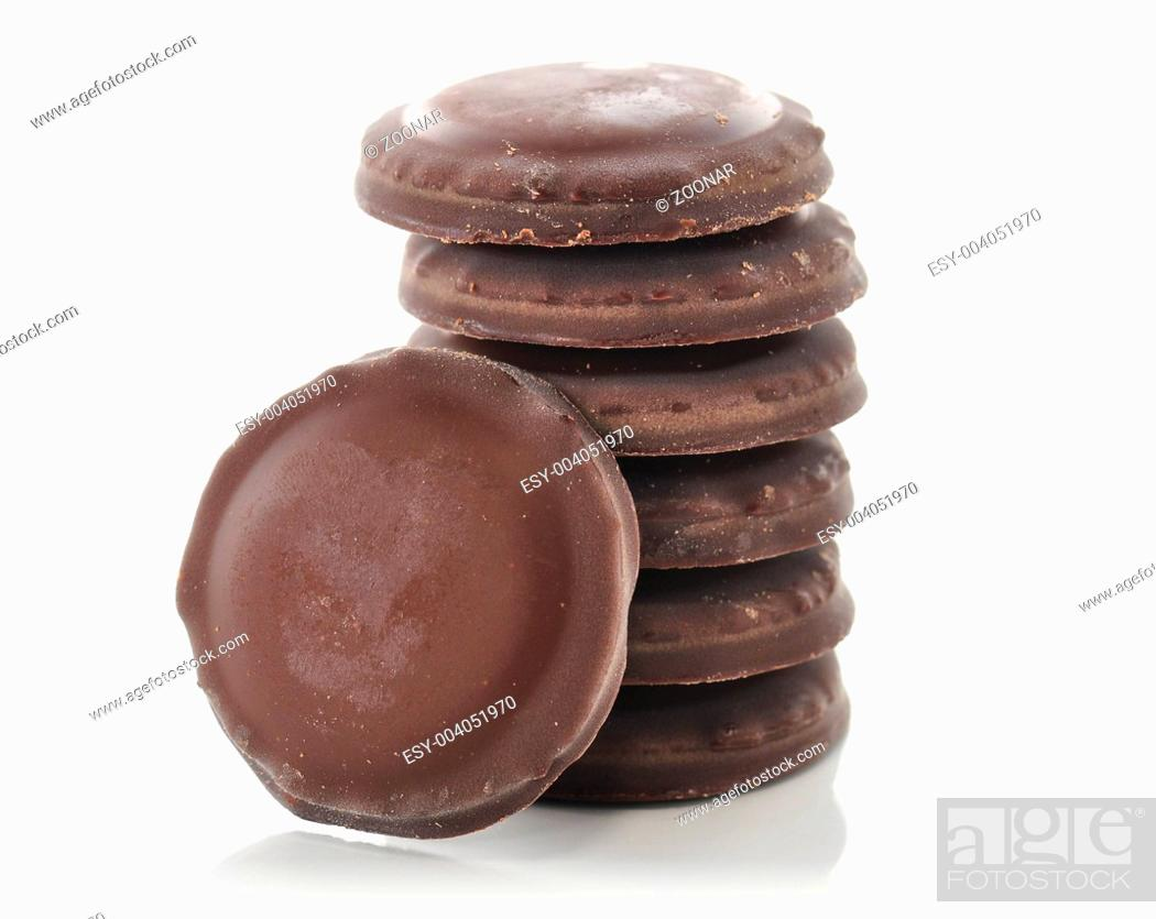 Stock Photo: Fudge Chocolate Cookies.