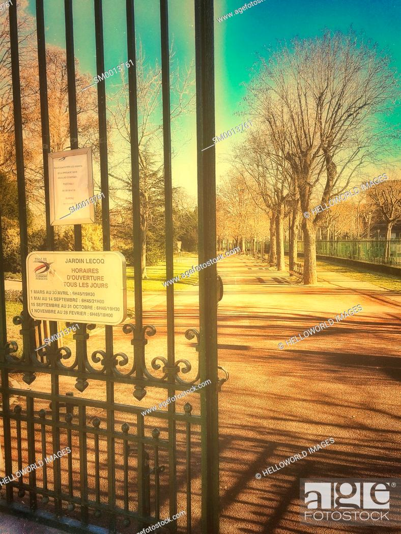 Entrance To Jardin Lecoq Stock Photos And Images Age Fotostock