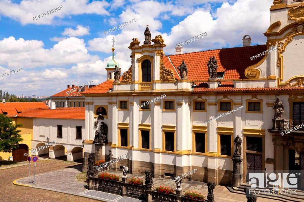 Stock Photo: View of Prague, Loreta.