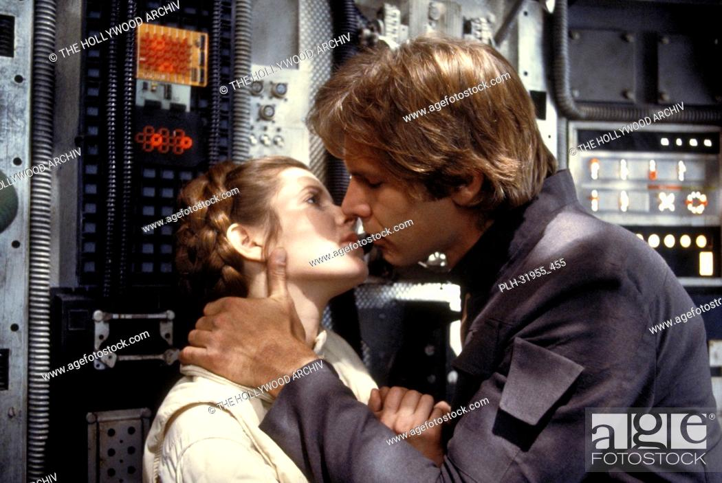 """Stock Photo: Carrie Fisher and Harrison Ford, """"""""Star Wars Episode V: The Empire Strikes Back"""""""" 1980."""