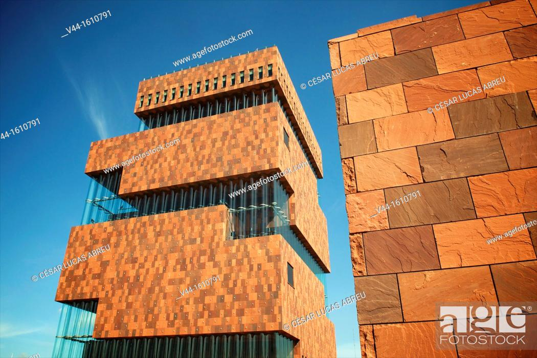 Stock Photo: MAS Museum, Willemdock. Antwerp. Flanders, Belgium.