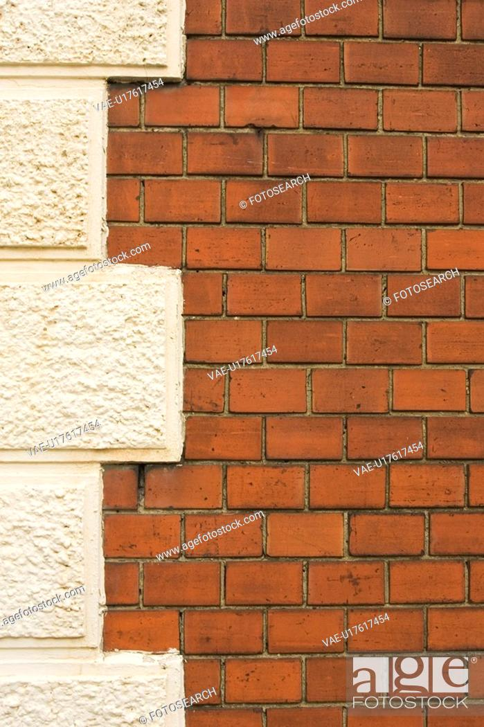 Stock Photo: Brick, Brick Wall, Close-Up, Outdoors.