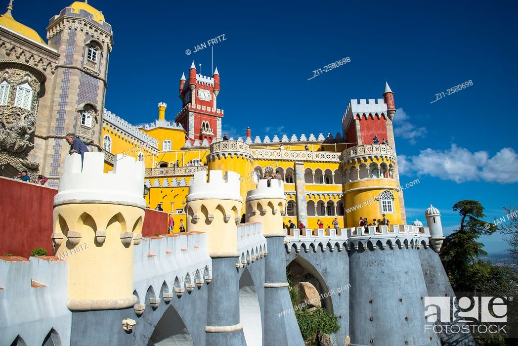 Imagen: detail of sintra palace portugal.
