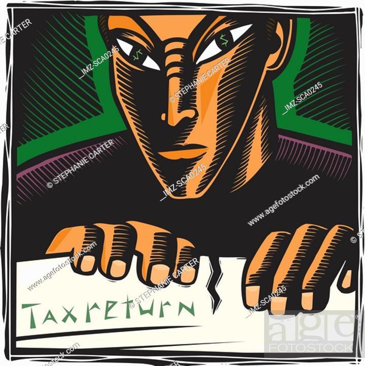 Stock Photo: Tax evasion.