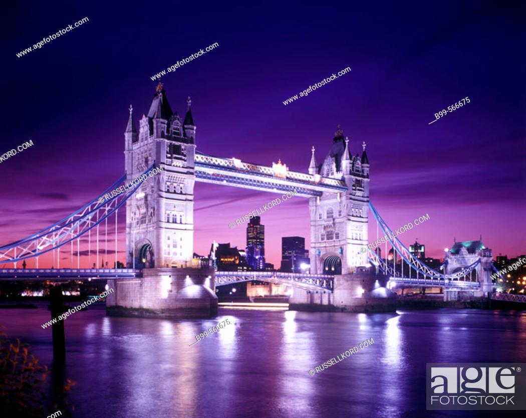 Stock Photo: Tower Bridge, London, England, U.K.