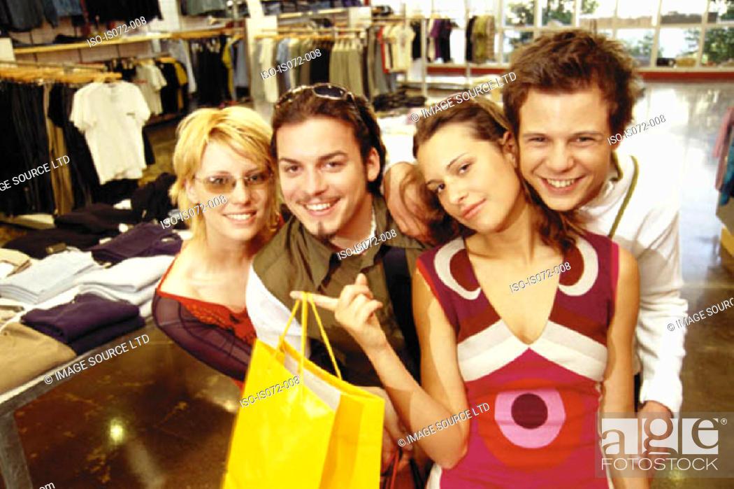 Stock Photo: Friends shopping.