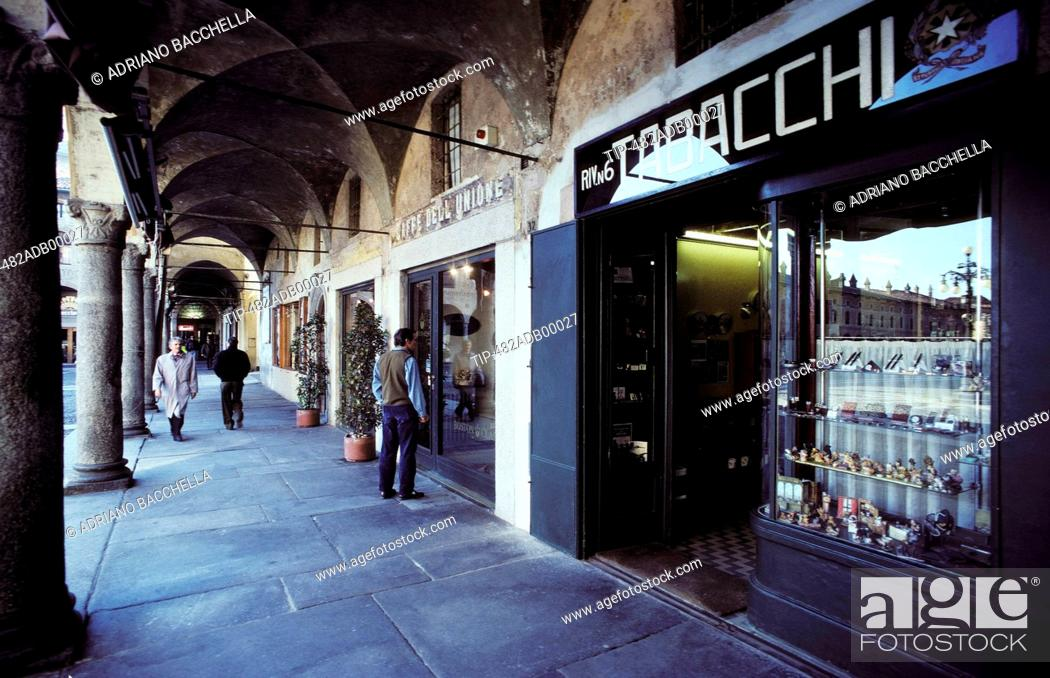Stock Photo: Italy, Lombardy, Vigevano, Ducale square.