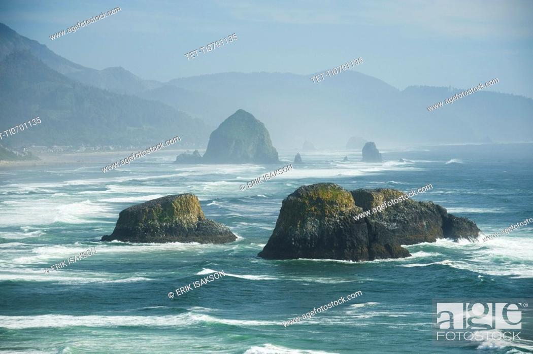 Stock Photo: Rock formations in ocean.