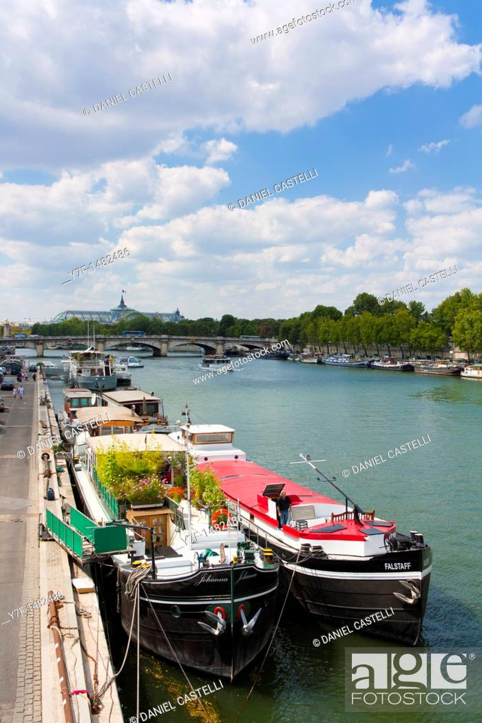 Stock Photo: Seine, Paris, France.