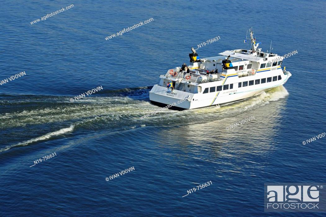 Stock Photo: Yacht, suburbs of Stockholm, Baltic sea, Sweden.