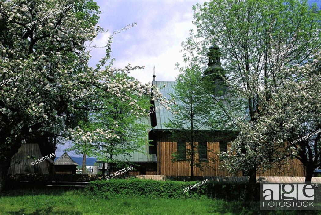 Stock Photo: Poland, near Zakopane, village.