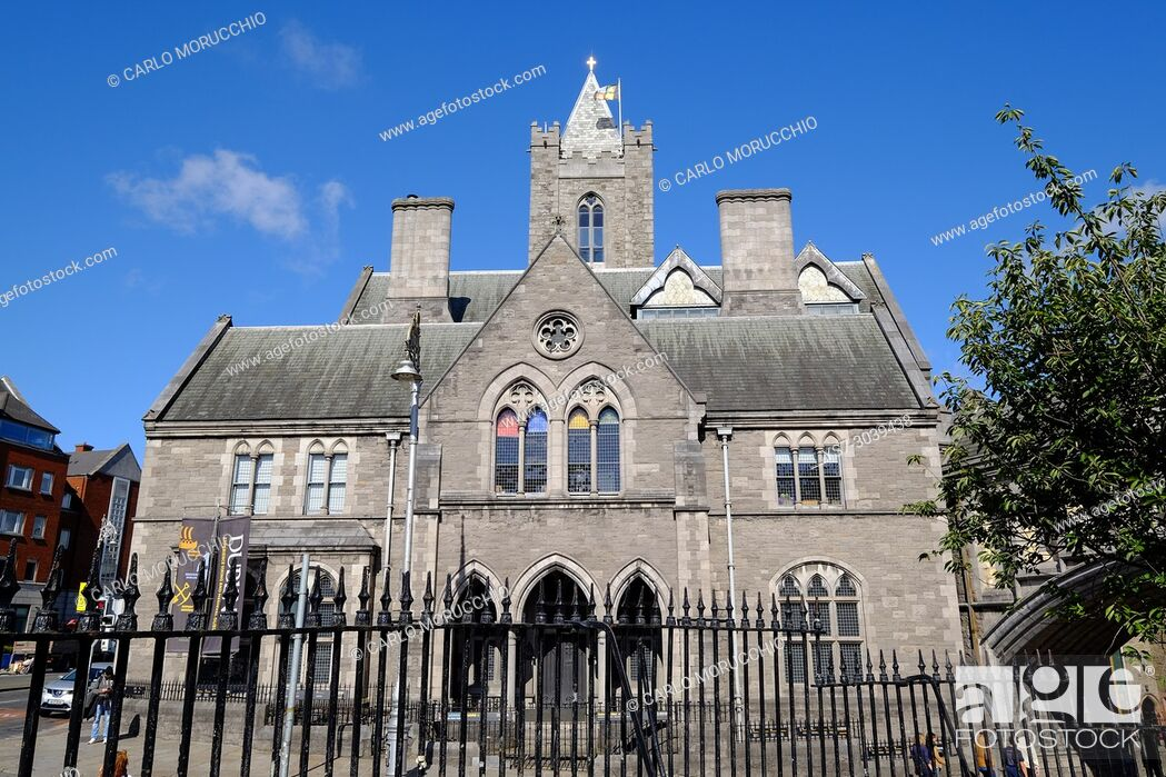 Stock Photo: The Synod hall of the Christ Church Cathedral , the building that houses Dublinia, Dublin, Ireland, Europe.
