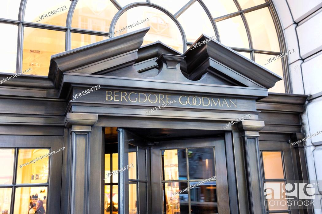 Stock Photo: The door of the iconic luxury department store on Fifth Avenue, Bergdorf Goodman.