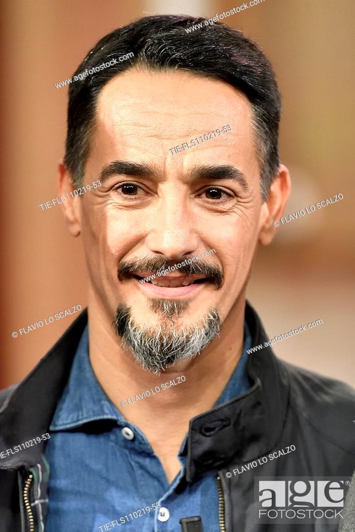 Imagen: Actor Peppino Mazzotta during the tv show Che tempo che fa, Milan, ITALY-10-02-2019.