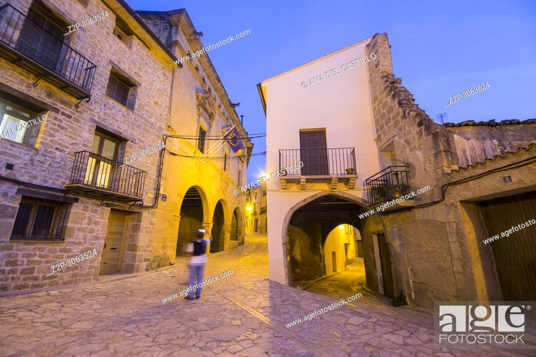 Stock Photo: Torre del Compte is a medieval village in Matarrana county Aragon. Spain.