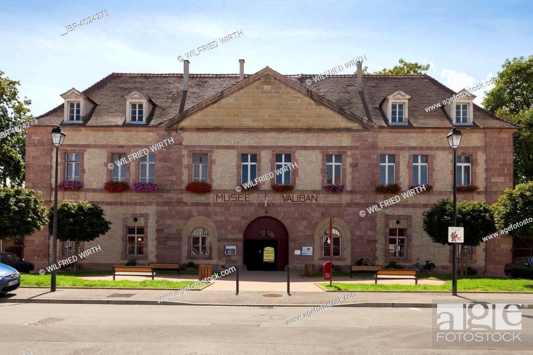Stock Photo: Vauban Museum, Neuf-Brisach, Alsace, France.