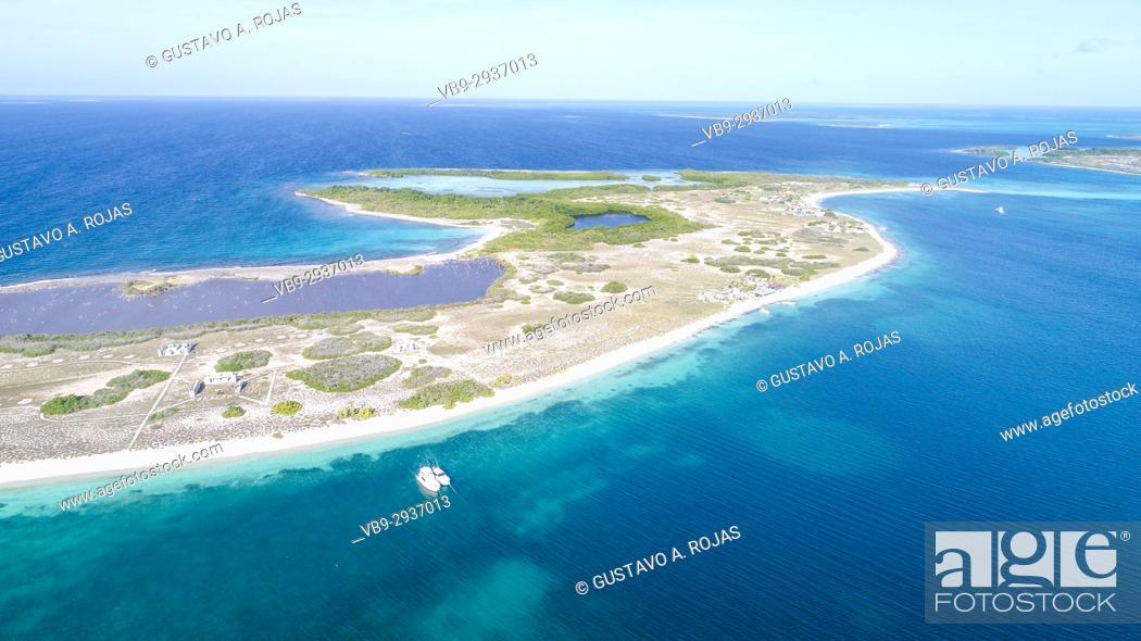 Stock Photo: Aerial View, crasky, crasqui Archipelago, Los Roques, Los Roques - Venezuela.