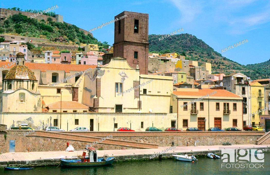 Stock Photo: Italy - Sardinia - West Coast Region - Bosa - The Bank of Temo river.