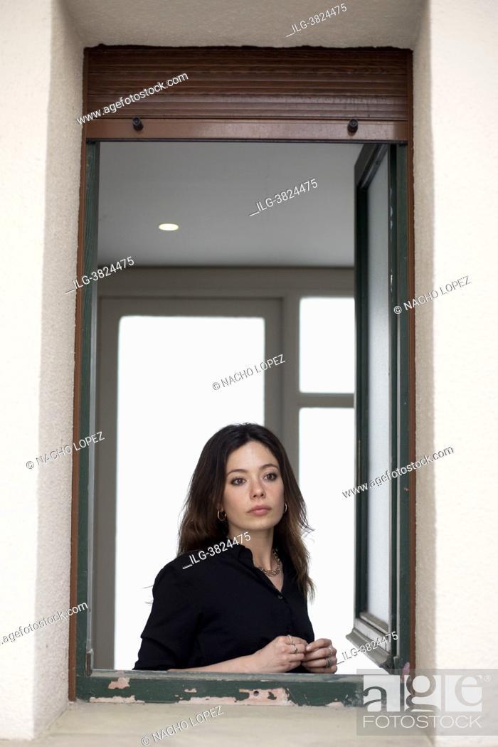 Stock Photo: Anna Castillo poses for a photo session 'Lo que Viene film Festival' on 'La vida era eso' May 13, 2021 in Tudela, Navarra, Spain.