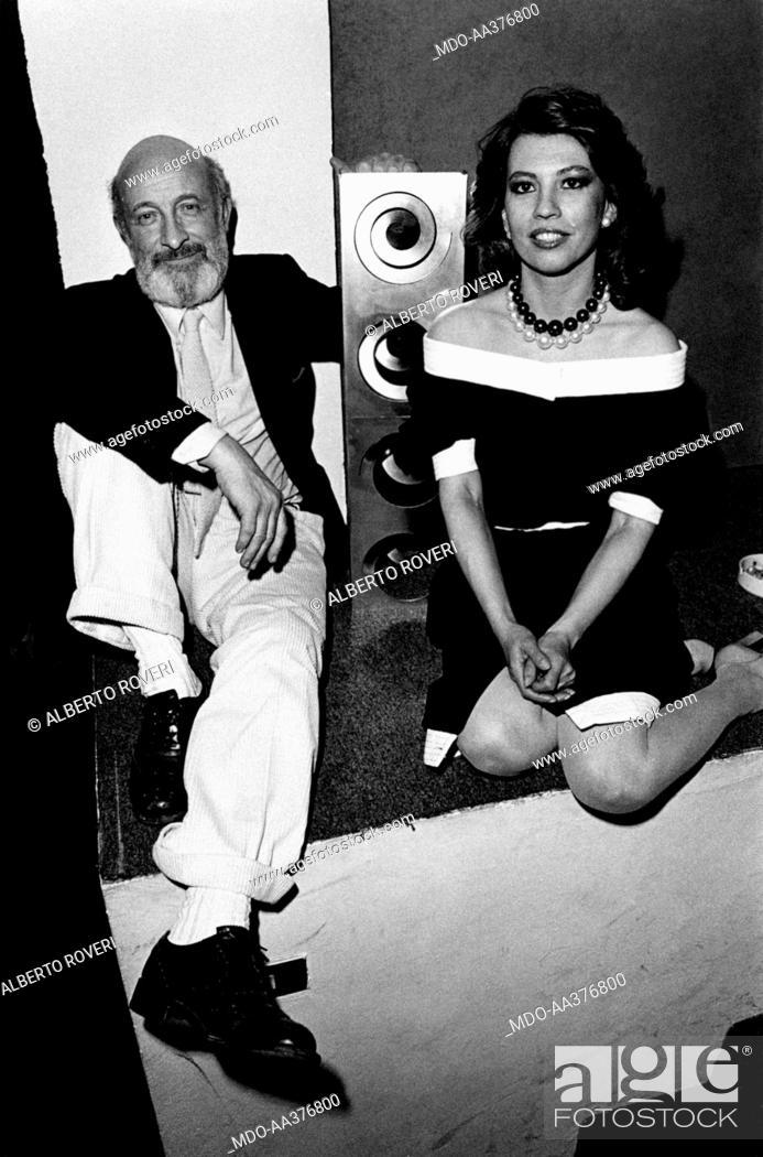 Vittorio and Marina Gregotti posing. Italian architect and designer ...