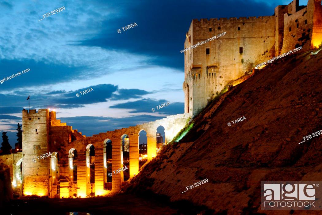Stock Photo: Aleppo citadel, Syria.