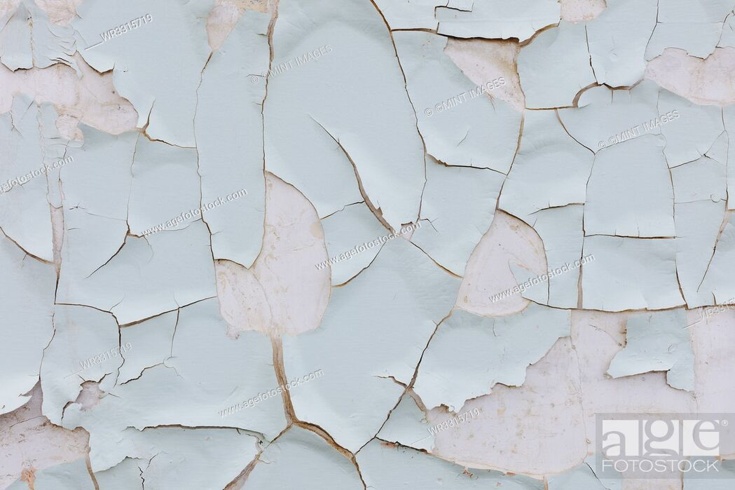 Stock Photo: Close up of peeling paint on wall.