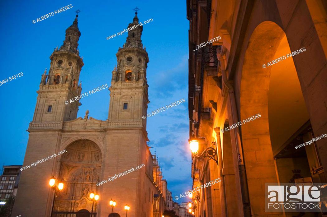 Stock Photo: Concatedral de la Redonda. Logroño (La Rioja). Spain.