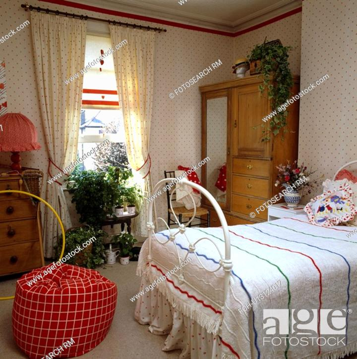 Matching Curtains At Window In Bedroom