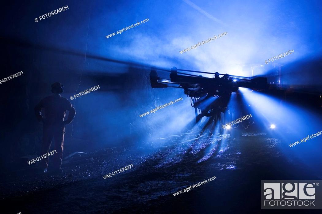 Stock Photo: Machine, Underground, Construction Site.