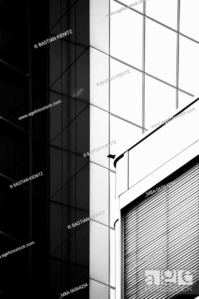 Black And White Photography Of The Roof Edge Of A Modern Building And The Facade Of Another House Stock Photo Picture And Rights Managed Image Pic Mba 06564234 Agefotostock