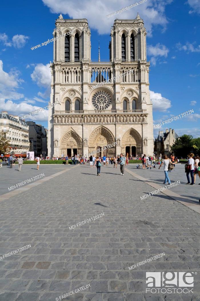 Stock Photo: France - Ile de France - Paris - The cathedral Notre Dame in Paris.