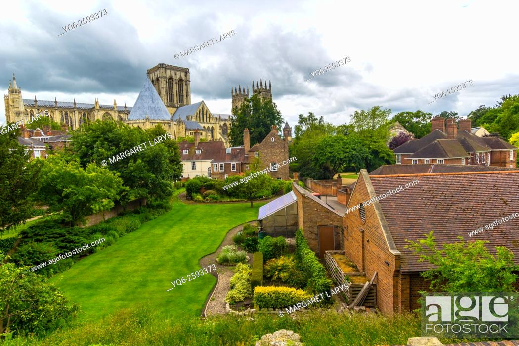 Stock Photo: Picturesque view of York Minster, England, United Kingdom.