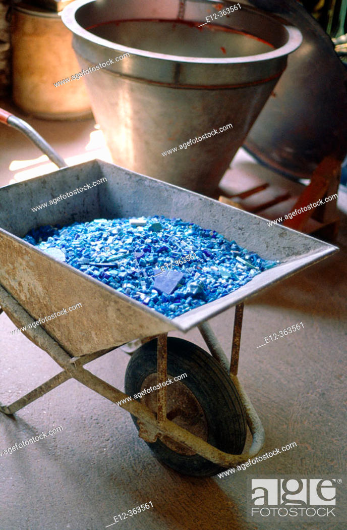 Stock Photo: Trash. Mosaic. Orsoni. Venice. Veneto. Italy.