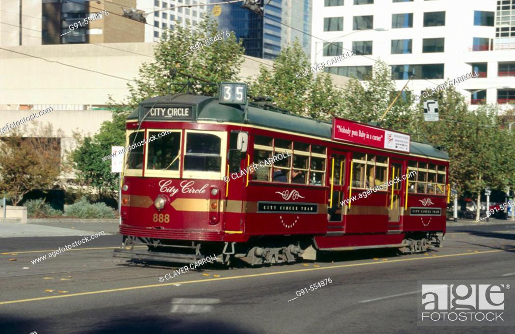 Stock Photo: City Circle Tram  in Melbourne city, Australia.