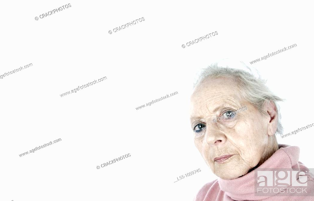 Stock Photo: Old woman.