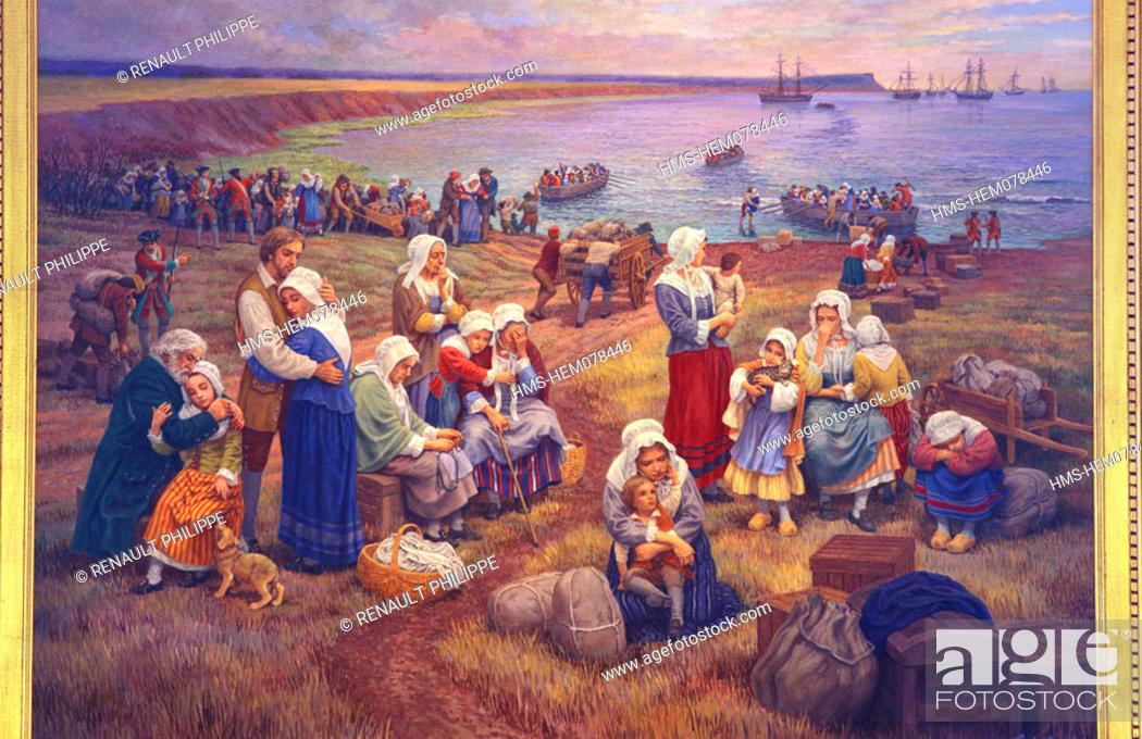 Canada, Nova Scotia, Grand Pre in the bay of Fundy  A