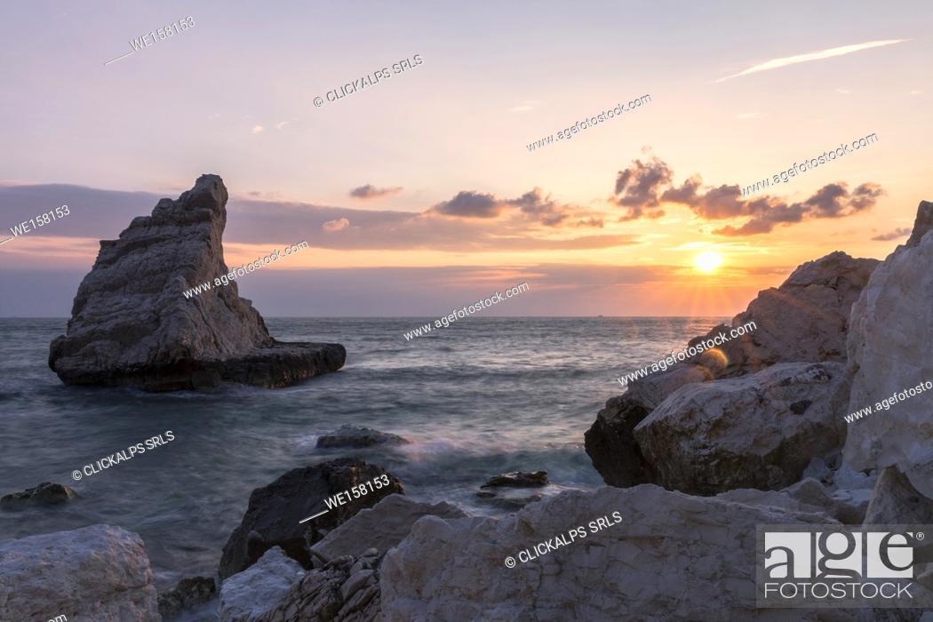 Stock Photo: Rock sail in the Conero National Park, Ancona district, Marche, Italy.