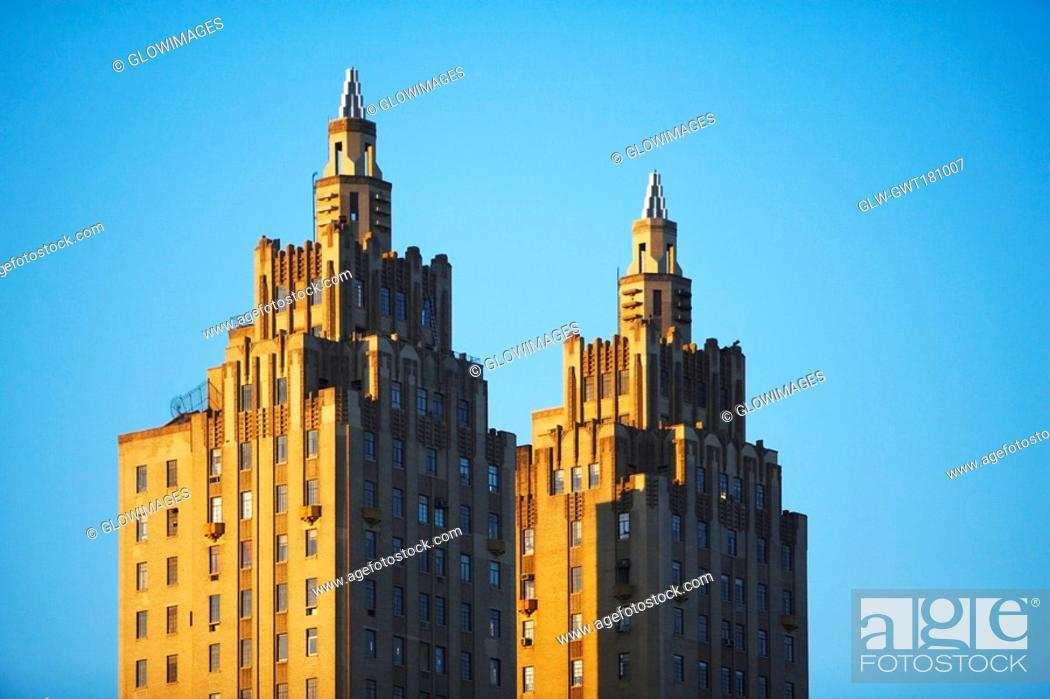 Stock Photo: High section view of buildings, San Remo, New York City, New York State, USA.