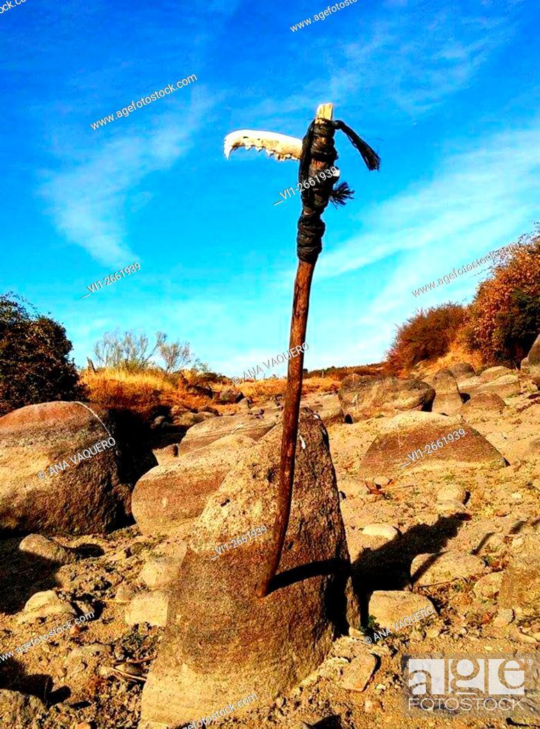 Stock Photo: Río Búrdalo, Escurial, Cáceres, España.